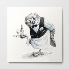 Waiter Owl Metal Print