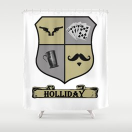 Doc Holliday Coat of Arms Shower Curtain