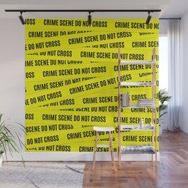 Crime Scene Tape Pattern Wall Mural