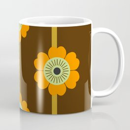 Cool Cat - minimal retro vibes floral flower power 1970s style throwback colors decor 70's Coffee Mug