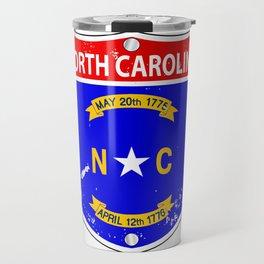 North Carolina Flag Icons As Interstate Sign Travel Mug