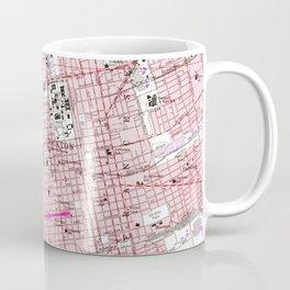 Vintage Map of Stockton California (1968) Coffee Mug