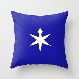 flag of Chiba prefecture Throw Pillow