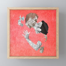 Newspaper LOVE Framed Mini Art Print