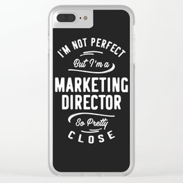 Marketing Director Clear iPhone Case