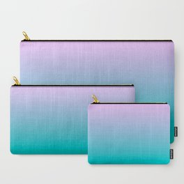 Pink Teal Ombre Gradient Summer Pattern Carry-All Pouch