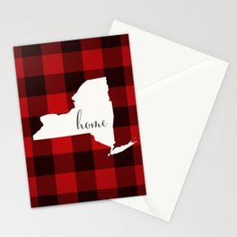 New York is Home - Buffalo Check Plaid Stationery Cards