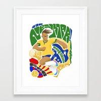 neymar Framed Art Prints featuring Neymar by Simon Estrada