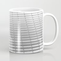 gray pattern Mugs featuring Gray Pattern by theGalary