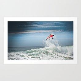 Julian Wilson Surfing  Art Print