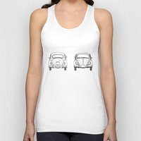 blueprint Tank Tops featuring VW Beetle BluePrint  by Barbo's Art