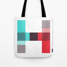 Rotation Alphabet 'H' On White Tote Bag