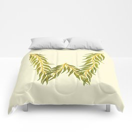 Leafy Letter W Comforters