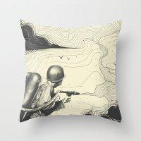 Sky Thrower Throw Pillow