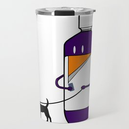 Codeine Bottle Walking the Dog Travel Mug