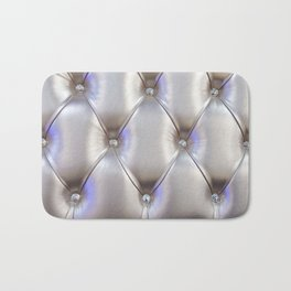 Silvery leather with rhinestone decoration Bath Mat