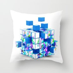 Magic cube Throw Pillow