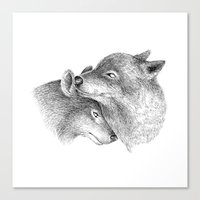 wolves Canvas Prints featuring WOLVES by Thiago Bianchini