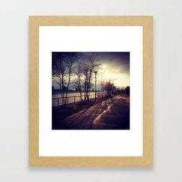 Detroit Riverfront Framed Art Print