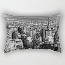 Midtown from top (B&W) Rectangular Pillow