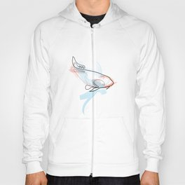 One line Koi Fish Hoody