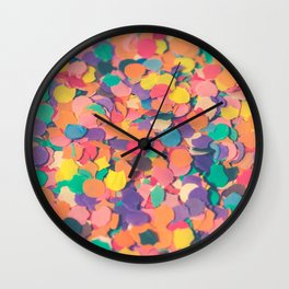 Pieces of paper different colorful shapes Wall Clock