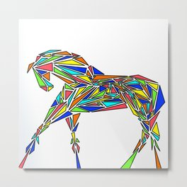 Geometrically Sound (Color Version) Metal Print