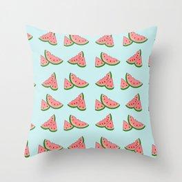What a melon Throw Pillow