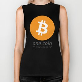 Bitcoin : one coin to rule them all Biker Tank