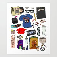 ghost world Art Prints featuring Ghost World by Shanti Draws