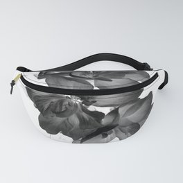 Black Geranium in White Fanny Pack