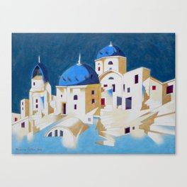 Memory of Santorini Canvas Print