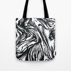 Marbled Black Tote Bag