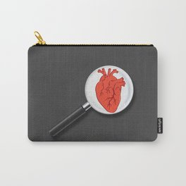Heart under magnifying lens Carry-All Pouch