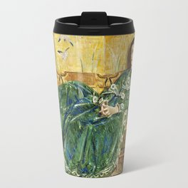 Childe Hassam - April, The Green Gown, 1920 Travel Mug