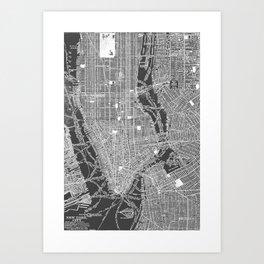 New York City Vintage Map Art Print