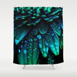 flower - midnight blue Shower Curtain