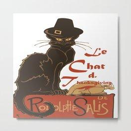Le Chat De Thanksgiving Metal Print