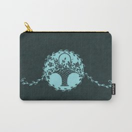 Vintage Floral Island Paradise Chalkboard Carry-All Pouch