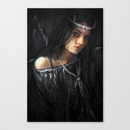 Devil in the Dark Canvas Print