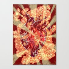 Heart Explosion Canvas Print