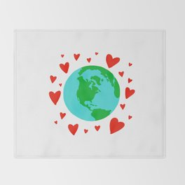 Love the Earth, Save the Earth Throw Blanket