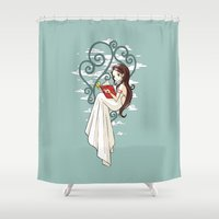 fairy tale Shower Curtains featuring Fairy Tale by Freeminds