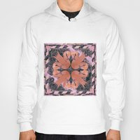 flamingos Hoodies featuring Flamingos  by Galvanise The Dog