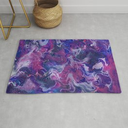 Marbling pink and blue Rug