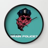 zappa Wall Clocks featuring Who are the Brain Police? by holaf