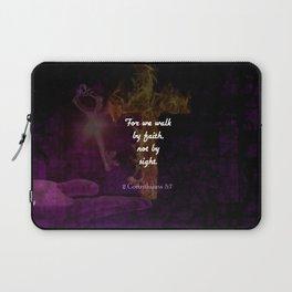 2 Corinthians 5:7 Bible Verse Quote About Faith Laptop Sleeve