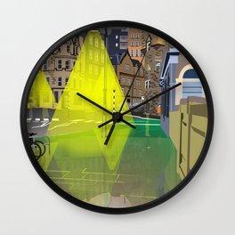 Edinburgh at Night Wall Clock