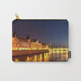 Illuminated Conciergerie at night, Paris, France. Carry-All Pouch