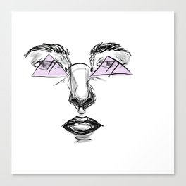 Purple Glasses Canvas Print